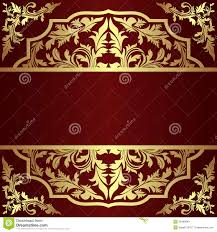 invitation design template with golden royal elements royalty free