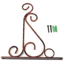 for sale 2pcs iron twist shelf corner wall mount bracket garden