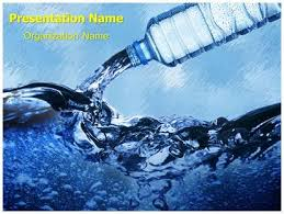 Water Powerpoint Templates by Bottled Water Powerpoint Template Background