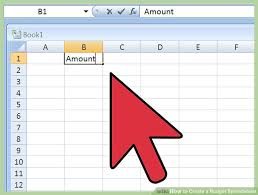 Financial Spreadsheet How To Create A Budget Spreadsheet 15 Steps With Pictures