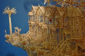 Toothpick House Incredibly Patient Artist Uses 100 000 Toothpicks To Create