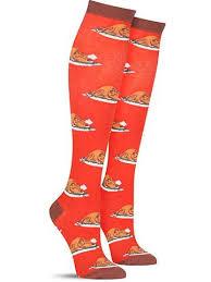 turkey time knee thanksgiving knee high socks for
