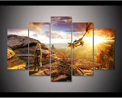 game of thrones home decor framed hd print 5pcs game of thrones daenerys targaryen canvas art