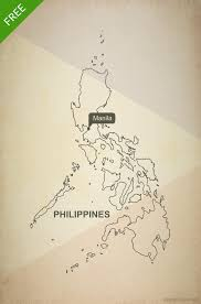 Phillipines Map Free Vector Map Of Philippines Outline One Stop Map