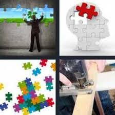 4 pics 1 word man putting puzzle pieces at the wall what u0027s word