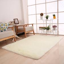 rectangle shaggy fluffy rug anti skid area rug dining room carpet