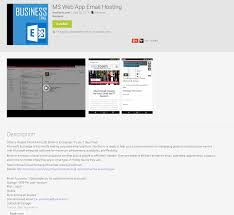 outlook web app android ms web app email hosting on android