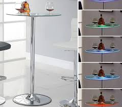 Glass Bar Table Led Glass Bar Table Chicago