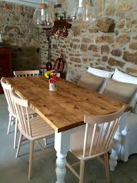 rustic farmhouse dining table country cottage county kitchen
