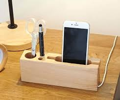 Electronic Desk Organizer Electronic Charging Station Desk Organizer Multipurpose Wooden Pen
