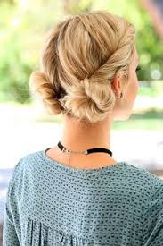 hair in a bun for women over 50 gorgeous short hairstyles for women over 50 double buns