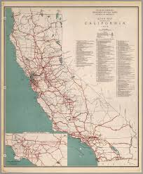 Map Of State by Road Map Of The State Of California 1934 David Rumsey
