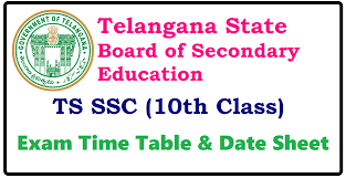 ts ssc timetable 2018 telangana 10th class exam date 2018 pdf