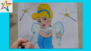 draw color disney princess cinderella cinderella