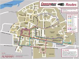 Alabama Time Zone Map by Bus Routes U2013 Crimson Ride The University Of Alabama