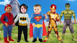 Superhero Family Halloween Costumes Little Babies Superhero In Real Life Finger Family Songs Daddy