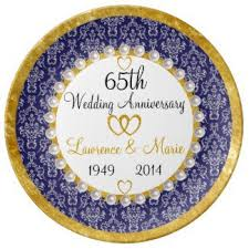 anniversary plate 65th wedding anniversary plate gift idea personalized so