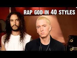 Eminem Rap God Meme - watch eminem s rap god performed in 40 different styles
