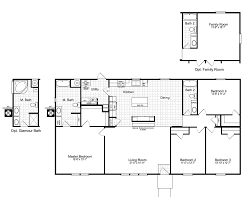 the johnston mobile home floor plan is a 27 x 64 1721 sqft double
