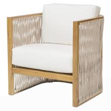 Teak Outdoor Chairs Jibe Modern Coastal Beige Teak Outdoor Lounge Chair Kathy