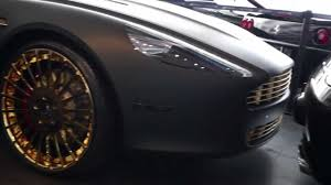 matte black aston martin meek mill aston martin rapide matte black on all gold forgiato