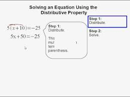 solving an equation using the distributive property youtube