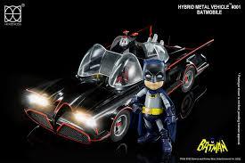 Batman Lights Batman Classic 1966 Batmobile And Batman Hybrid Metal Vehicle With