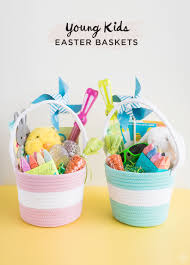 easter baskets for kids easter basket ideas for kids from toddlers to think make