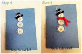 easy christmas crafts 11 snowman christmas card speech room style