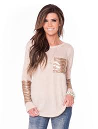 cream chevron sequin sweater affordable boutique clothes