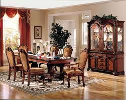 China Cabinet And Dining Room Set Dallas Designer Furniture Chateau De Ville Formal Dining Room