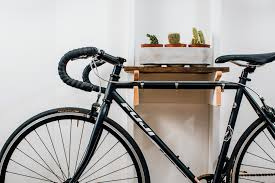 bike rack and bench built the old fashioned way from scratch