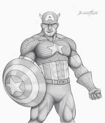 superheroes pencil sketches captain america