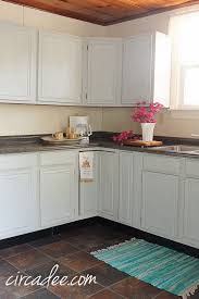 Gray Kitchen With Oak Cabinets How To Milk Paint Oak Cabinets U2013 Circa Dee