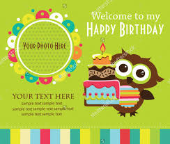 birthday invitation card design for kids image collections