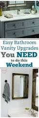 easy bathroom vanity upgrades you need to do this weekend must