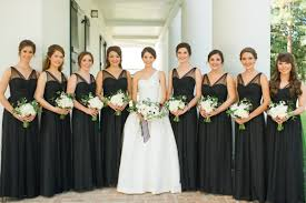 black bridesmaid dresses black tie bridesmaid dresses archives southern weddings