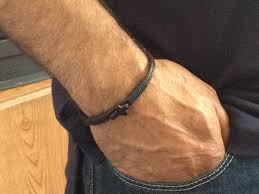 man bracelet cross images Free shipping mens braceletmens leather bracelet brown jpg