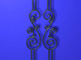 ornamental iron parts 3d model 3ds max files free