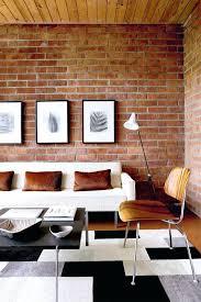 brick wall room decor a bright interior design apartment with one