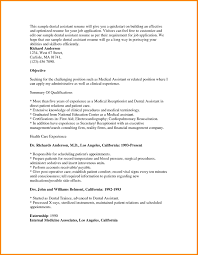 Sample Resume For Dentist by Resume Objective Examples Dental Assistant Augustais