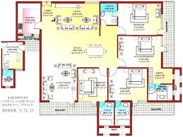 4 bedroom plan inside simple house plans corglife