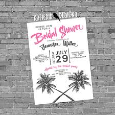 bridal shower invitation palm tree rehearsal engagement rustic
