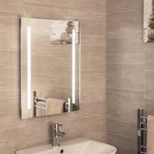 bathroom mirrors square round led heated plumbworld ceramica battery powered rectangular mirror 500x650mm with 46 leds