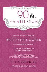 birthday invitation greetings 90th birthday party invitations 90th birthday invitation