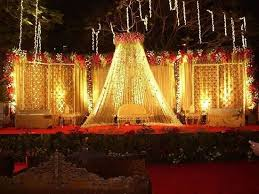 delhi ncr weddings stage decorations bridal lehenga and floral