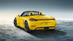yellow porsche boxster porsche 718 cayman and boxster to get n a flat six 3 8 litre in