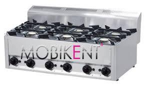 materiel cuisine lyon plan de cuisson gaz 6 feux vifs sp 90 gls rm mobikent