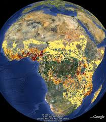 Google Maps Africa by Gaps In Cassava Collection In Africa Highlighted