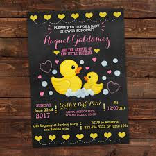 instant download baby shower invitations rubber duck baby shower invitation chalkboard rubber